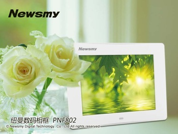 Free shipping Newman digital photo frame 8 inch screen electronic photo album mp3 function