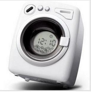 Despertador Moda máquina de lavar roupa colorido relógio m magia relógio mini- relógio preto e branco alarme tv(China (Mainland))
