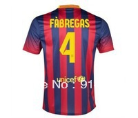 13-14 Barce home 4#FABREGAS soccer football Jersey, Thailand Quality shirt,soccer uniforms,free shipping,wholesale soccer jersey(China (Mainland))