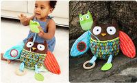 free shipping SKP kid baby Hug and Hide Activity Stroller Toy bird - owl