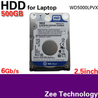 """The Latest Version WD5000LPVX 2.5"""" HDD SATA 6Gb/s 500GB 7mm silm Hard Disk Drive for laptop 3 year warranty Free Shipping"""