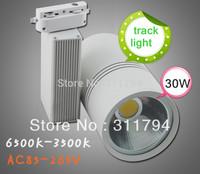 2pcs/30W led track light cob,Warm White / Ceiling Light Wall Lamp Whitetrack spot light spot lamp,AC110v/220v/230v/240v