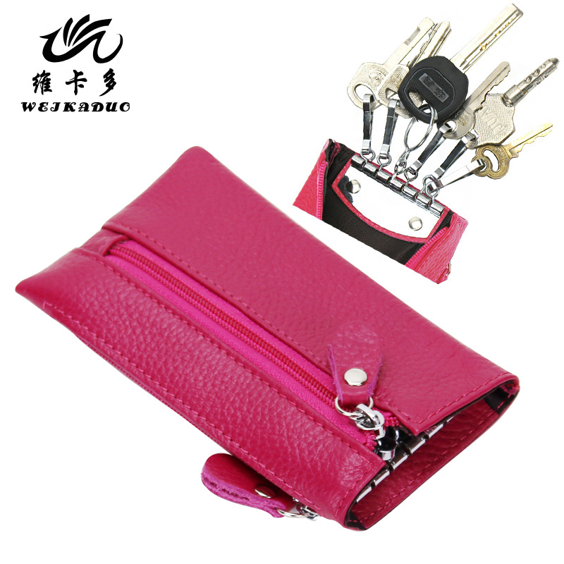 2013 New Fashion Vicat genuine leather key wallet male Women key wallet coin purse card case 2(China (Mainland))