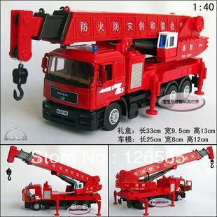 Free shippingNew Man Crane 6 Wheels Alloy Diecast Model Car With Box Red Toy Collecion B478(China (Mainland))