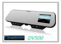 "Bluetooth Car Camera Mirror DV500 with 2.7"" TFT LCD HD 1920*1080P  G-Sensor H.264 IR Night Vision  HDMI HKpost Free Shipping"