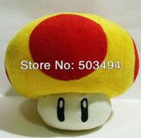 """Golden mushroom plush Super Mario Mushrooms Stuffed Dolls Plush Toys 8"""" inch"""