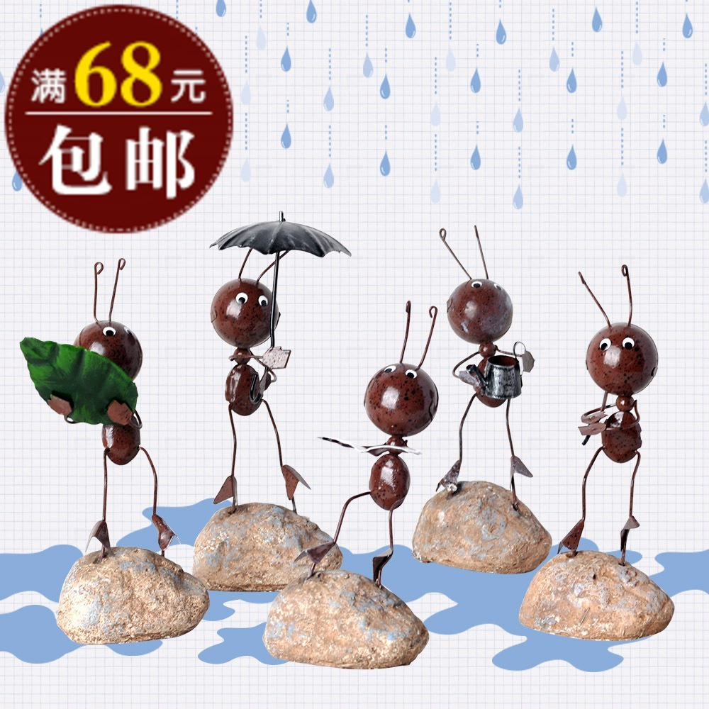 Metal ants brief doll home decoration iron crafts desktop home accessories(China (Mainland))