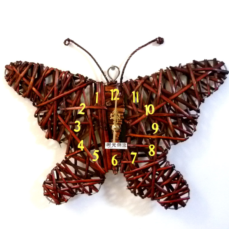 Butterfly time clock anticlines clock wall decoration technology clock fashion(China (Mainland))