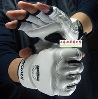 Free Shipping Semi-finger fight gloves advanced semi-finger set faux leather gloves