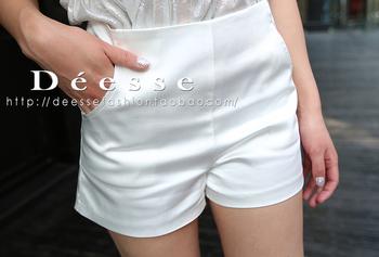 Deesse chaldean satin all-match basic high waist small shorts