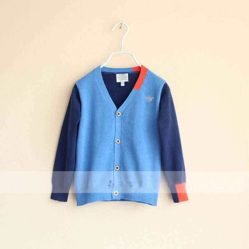 boy 2 color knitting cardigan children's sweaters wholesale autumn(China (Mainland))