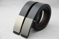 high quality low price brand new Fashion Metal Smooth Buckle leather Belt for men PU leather drop shipping to world
