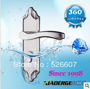 Free shipping European standard stainless steel interior door handle locks Mechanical locks decoration selling equipment(China (Mainland))