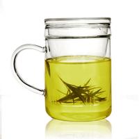 tea  transparent lid belt   , Glass Cups