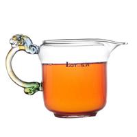 heat resistant  fair mug colored glaze leopard head temperature glass tea sea