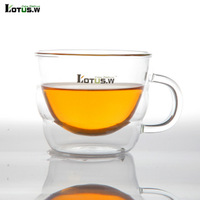 double layer heat resistant  500ml large capacity milk    , Glass Cups