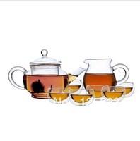 Glass Tea Set portfolio / filtration, temperature, flower Teapot Gift Set