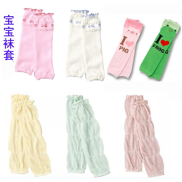 Hot sell Baby socks set summer baby sets kneepad thin child ankle sock ruffle hem cuish set(China (Mainland))