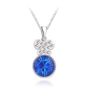 Short design austria crystal necklace female birthday gift girlfriend gifts butterfly(China (Mainland))