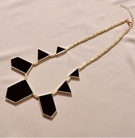 Min.order is $10 (mix order) free shipping, black geometric pattern of fashion necklace, welcome to order!