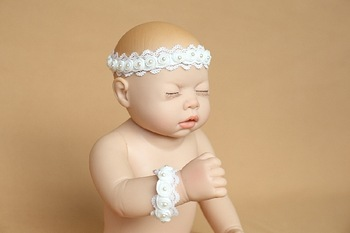 130740 Handmade newborn baby props lace hair band hair bands bracelet 0-1M