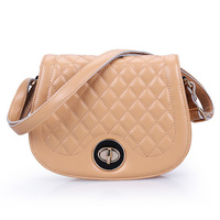 2013 spring and summer genuine leather candy color women's plaid messenger fashion lady hang out shoulder bag / free shipping