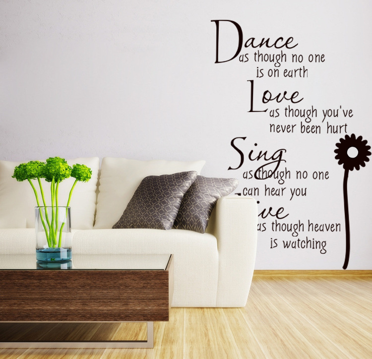 Wall quotes vinyl wall decalshome decor removable wall for Room decor ideas quotes