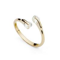 Diamond ring CZ  ring wedding ring loose CZ diamond stone female ring hot-selling white 18k gold daifuku