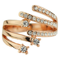 Fresh ring female finger ring accessories personalized rose gold fashion jewelry