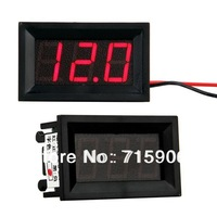 Free shipping Mini Red LED Digital Voltmeter Voltage Volt Meter Panel 4.5-30V