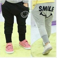 New Korean version hot smile pencil pants children clothing  trousers harem pants trousers