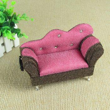 Fashion princess mini furniture sofa accessories jewelry box jewelry storage box cosmetic box wedding gift