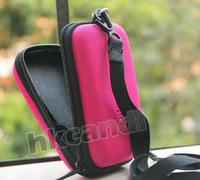 Pink Universal Waterproof portable DC Hard Bag Digital Camera Case Pouch chain for canon nikon samsung sony kodak