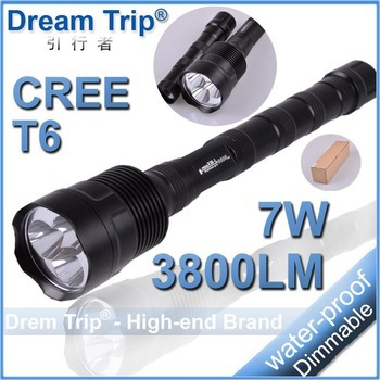 Trustfire Flashlight 5 Mode 3800 Lumens 3* CREE XM-L XML T6 LED Flashlight Extendable High Power Torch+Charger(China (Mainland))