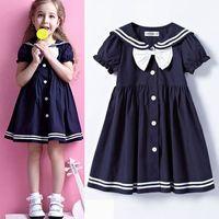 supernova sale christmas summer girl dress 5pcs/lot bow girls' dresses for school baby clothing baby dress