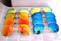 Fashion classics 3025 Men sunglasses brand designer women vintage sunglass 58mm silver frame gold lens