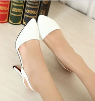 Free Shipping  Sexy Faux Patent Leather Shoes Sandals Stiletto high heeled Pumps Pointed Toe Nice Girl Princess Women's Shoes
