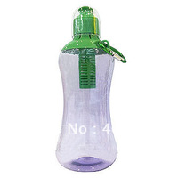 Wholesale 2013 newest plastic water filter bottle ,Bobble clear plastic water bottles with filter stick and carabiner