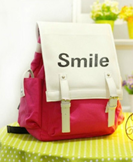 School Bag Female Preppy Style Canvas Backpack Fashion Women's Handbag Travel Bag Free shipping(China (Mainland))