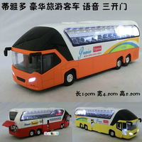 wholesale Alloy car model toy bus limousine bus three door WARRIOR  free shipping