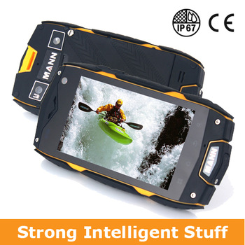 "Original 4.0"" MANN Zug 3 mobile phone Qualcomm Dual Core  Android 4.0 Waterproof Dustproof Rugged WCDMA 3G DHL Freeshipping"