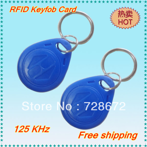 Wholesale 100pcs 125Khz RFID Proximity ID Card Token Tags Key Keyfobs for Access Control Time Attendance free shipping(China (Mainland))