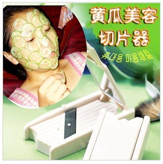 Beauty cucumber slicer cucumber facial mask slicer tape mirror b054(China (Mainland))