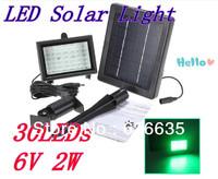5pcs/lot led solar light 6v 2w 30leds Europe type style led energy  garden light 2year warranty
