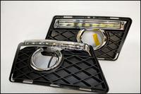Free Shipping by EMS/Fedex,High Quality LED DRL,LED Daytime Running Lights for Mercedes-Benz GLK300 GLK350,8pcs OSRAM LED Lights