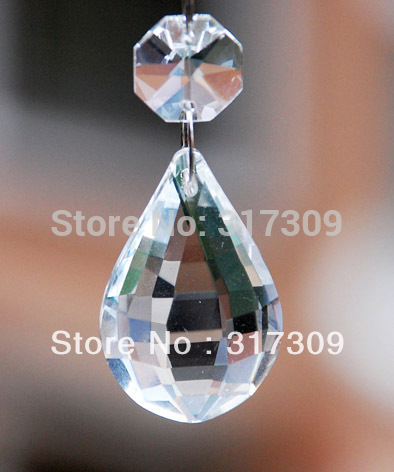 38mm Crystal Pendant--Pipa, High Quality Glass Crystals Prisms, Free Shipping, Wedding Decoration / Chandelier Prism(China (Mainland))