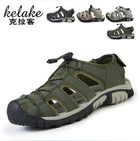 Summer breathable shoes plus size male sandals bird's-nest casual fashion mules shoes