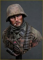 Grp 1 Min Order $40 (Mix in Grp 1) 1/10 World War II Resin Soldier Figure Gernman SS Schutzstaffel Resin Figure Un-Painted