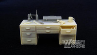 Grp 1 Min Order $40 (Mix in Grp 1) 1/35 World War II Resin Workbench Style NO.2 Battle Scene Accessories Un-Painted Resin Figure