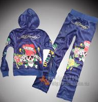 Free shipping Autumn new arrival ed skull velvet sports set women's casual set fashion sweatshirt
